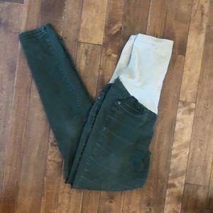 Motherhood maternity size S olive skinny jeans